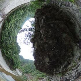 大杉谷 断崖絶壁の歩道