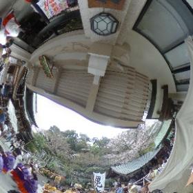 信貴山銭亀祭り(千手院)、金運キャッチの日 #theta360