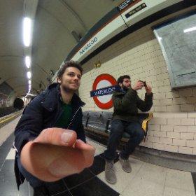 Waiting the train #Waterloo station in London #theta360 #theta360it