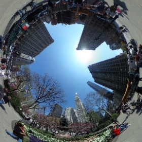 New York City. Madison Square Park and Flatiron Building.  #theta360