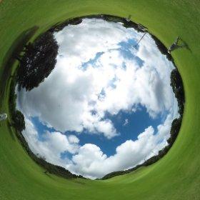 今日は親子3人でゴルフ 台風一過晴天