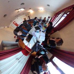 "Preparing final presentation at the ""Senses"" seminar on the island of San Servolo, Venice"