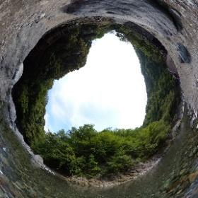 360度カメラで撮影した久保キャンプ場河原サイトからの道志川です😊 #theta360