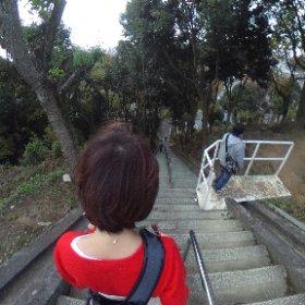 姫路市配水池 一直線の階段で…こっわー