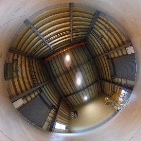 境港西工業団地工場天井高部分 #theta360