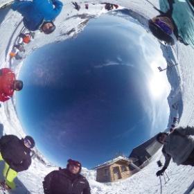 Val Thorens 2017 - Top of Thorens near Tyrolienne #theta360 #theta360uk