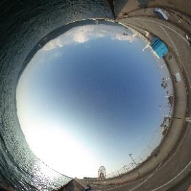 マリーナシティ脇の海釣り公園