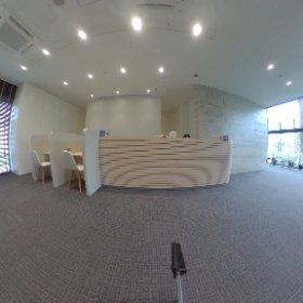 新棟1階 総合受付です。 #theta360