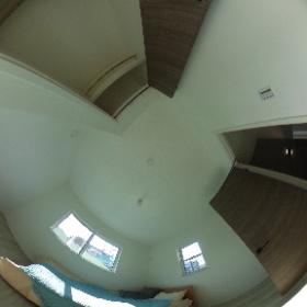 6.1帖のセカンドルームの360度画像 2面採光で明るいお部屋です