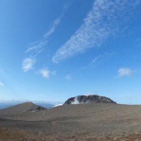樽前山山頂手前300メートル #登山 #樽前山 #theta360