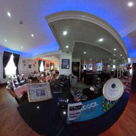 GRAND INDIAN LOUNGE: Inside the award winning Indian restaurant at 40 Wakefield Road, Swillington - voted Best Curry House of 2017 in Leeds by readers of The Yorkshire Evening Post. #theta360 #theta360uk