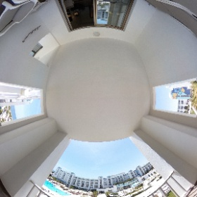 Terrasse mit Pool- & Meerblick meines Zimmers im Concorde Green Park Palace in Port el Kantaoui in 360° #DiscoverTunisia #FTItouristik #theta360