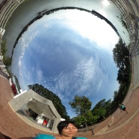 日本人村博物館の裏。チャオプラヤ川をのんびり眺められる。