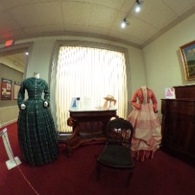 The Costumes of PBS' Mercy Street, exhibit on display at The Lyceum in Alexandria, Virginia through summer 2017.