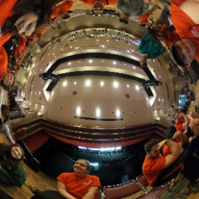 Some of our crew setting up for the show. #theta360