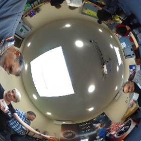 My first conversation with a robot! Many thanks @spacelady102 @SidmouthScience #theta360
