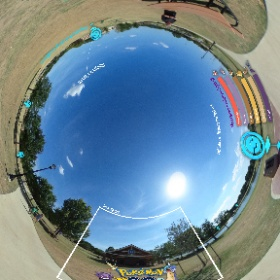 Demonstration of adding graphics to Bedford Boys Ranch Pokemon GO Event 360 photo