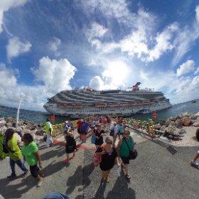 Leaving the Vista today, headed for paradise! #Curacao #theta360