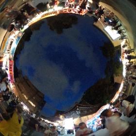 ミクさんと地元のお祭りにきたよ!すっごい混雑!! #miku360 #theta360