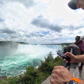 Lots of people watching the water #niagarafalls #waterfall #travel #tourism #theta360