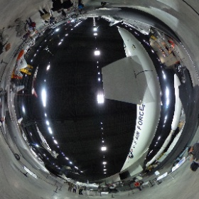 360 view of Research and Development Gallery at Air Force Museum #theta360