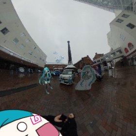煙突広場には『ムーヴキャンバス×初音ミク リミテッドパッケージ』装着車と賀茂川さんのミクさんパネルが❣️ #雪ミク #初音ミク #miku360