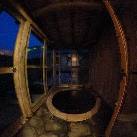 青森県 水軍の宿  人気の露天風呂付き客室をご紹介。 #theta360