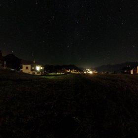 Rosswald in Switzerland by night #rosswald #valaiswallis #switzerland   #theta360
