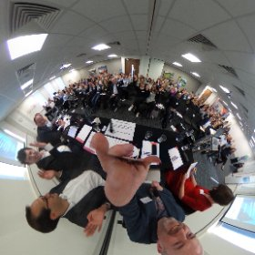 #360selfie of our wonderful panel and audience at #HEInsights. Now on to #wusca! #theta360