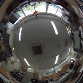 年度末で散らかってる研究室 #theta360