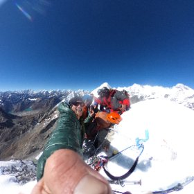 Welcome to VR at 6063m on the summit of Khanchung Shar! #theta360 #theta360uk