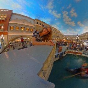 Virtual reality at the Venetian. #theta360